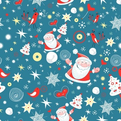Five elegant Christmas background pattern vector material 04