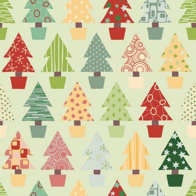 Five elegant Christmas background pattern vector material 05