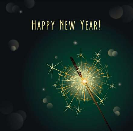 Four beautifully the 2013 New Year's greeting card vector background material 01