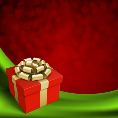 Four beautiful Christmas background Vector 01