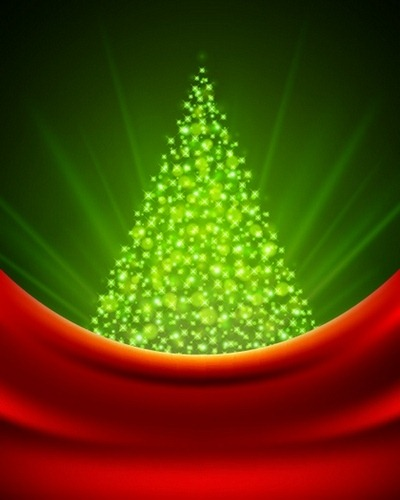 Four beautiful Christmas background Vector 02