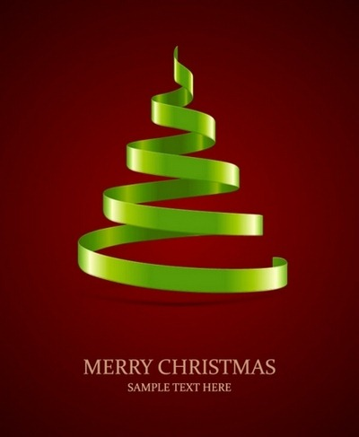 Four beautiful Christmas background Vector 03