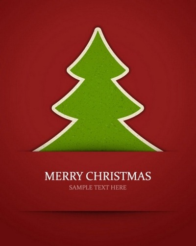 Four beautiful Christmas background Vector 04