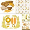 Five wheat vector images