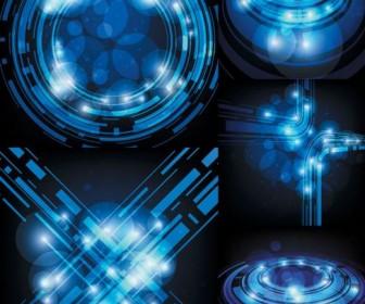 Sense blue light technology Vector
