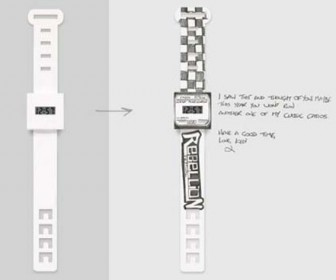 Watches made of paper