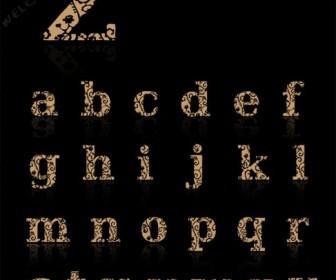 JI Hidden Vines English hollow fonts