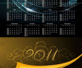 2011 Calendar Template 01 - Vector