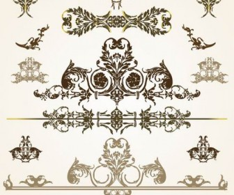 Beautiful lace pattern vector material 03