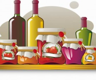 Food jar vector material 02