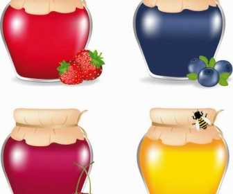 Food jar vector material 03