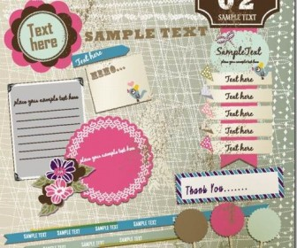 Beautiful pink stickers element material