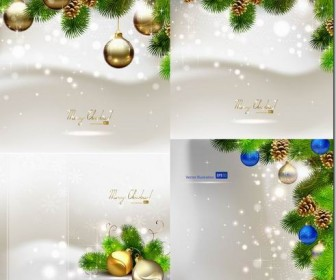 Beautiful Christmas ball vector background material