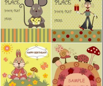 Cartoon illustration background design material