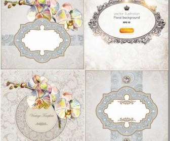 Exquisite frame design pattern material