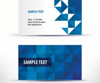 Simple business card template pattern 04 Vector
