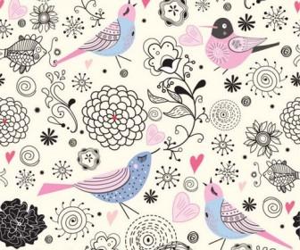 Elegant illustration background pattern 01 Vector