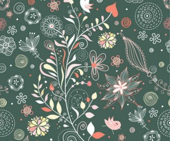 Elegant illustration background pattern 02 Vector