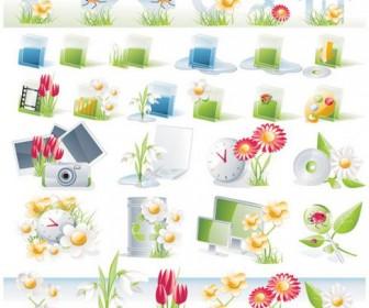 Landscape gardening tools Vector