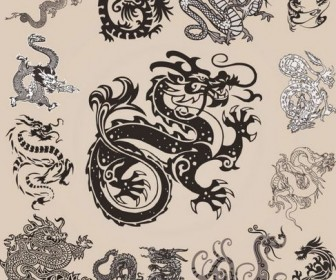 Different Chinese Dragons 02