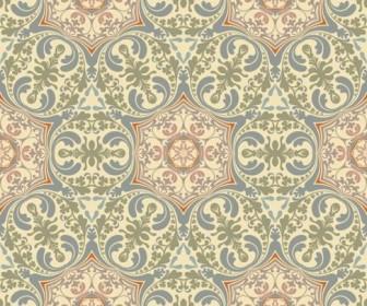 Retro floral pattern Vector 03