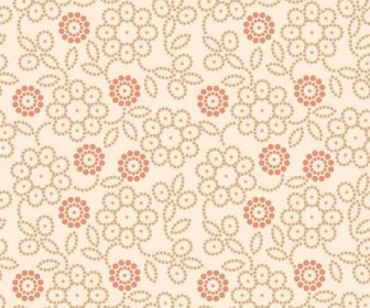 Retro floral pattern Vector 04