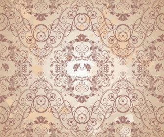 Retro floral pattern Vector 05