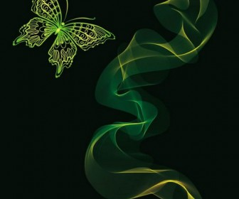 Brilliant neon butterfly Vector 04