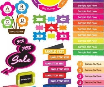 Vector graphics colorful decorations 01