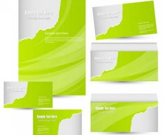 Green Card Template Vector 02