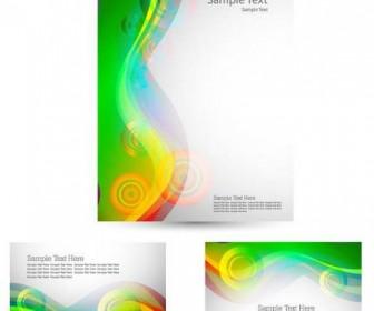 Green Card Template Vector 03
