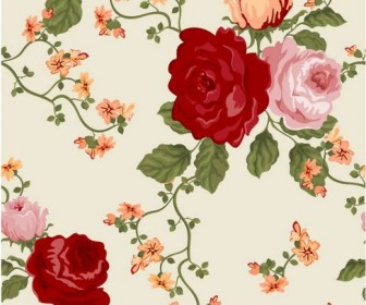 Colorful flowers background Vector 01