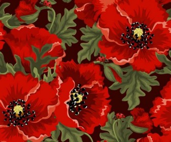 Colorful flowers background Vector 05