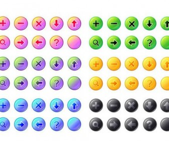 Exquisite button icons vector material