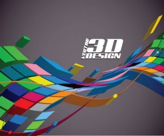 Dynamic three-dimensional elements Vector 01