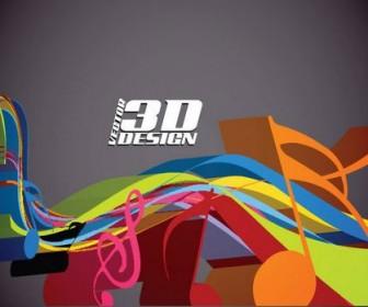 Dynamic three-dimensional elements Vector 03