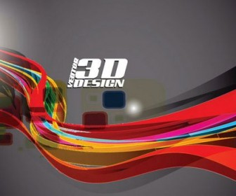 Dynamic three-dimensional elements Vector 05