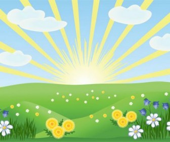 Summer cartoon images Vector 02