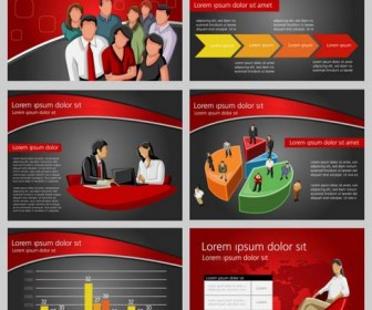 Background of business and financial PPT Vector 03