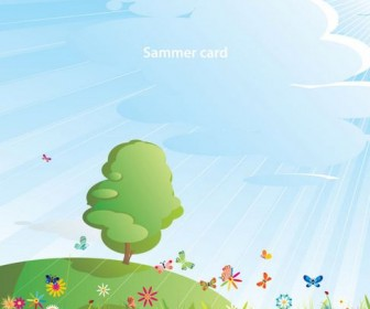 Summer cartoon images Vector 05