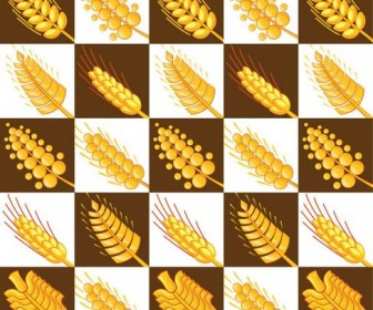 Wheat Pattern Vector 03