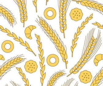 Wheat Pattern Vector 05
