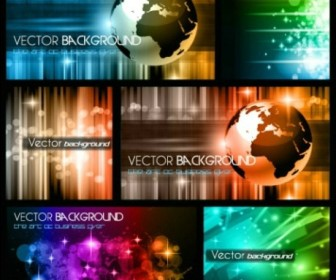 Colorful trend of dynamic background vector material