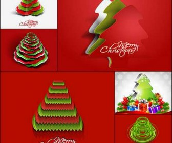 26 creative Christmas tree vector material