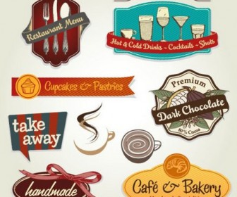 Five Menu restaurant cafe bar corporate identity and logo vector