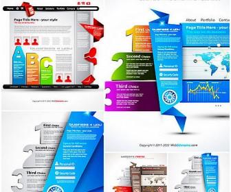 Five creative Angular web vector