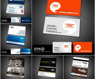 Six exquisite business card template material