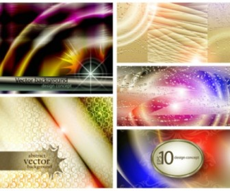 Five Abstract light background vector material