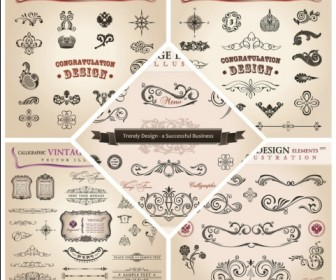 A variety of exquisite patterns vector material