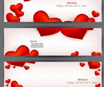 22 beautiful valentine cards vector material
